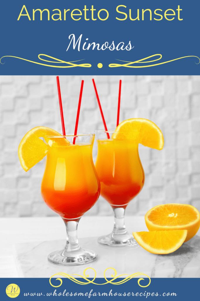 Amaretto Sunset Mimosas