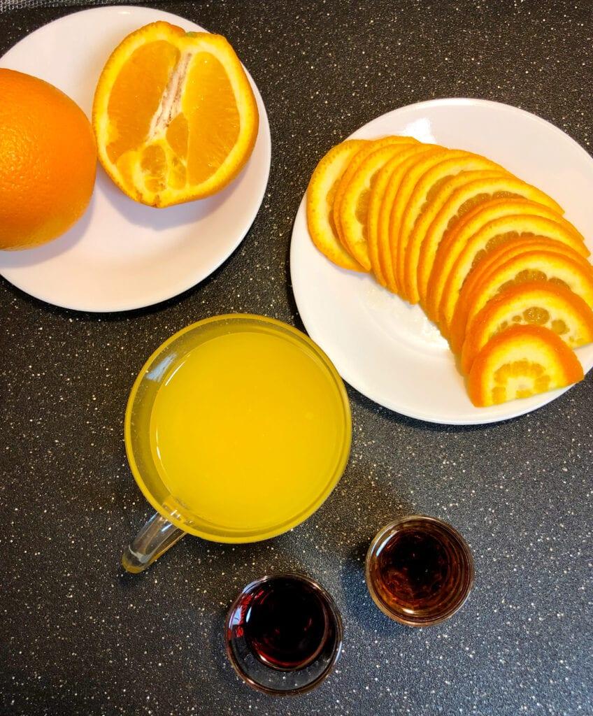 Orange Juice Sparkling Wine Amaretto Homemade Grenadine