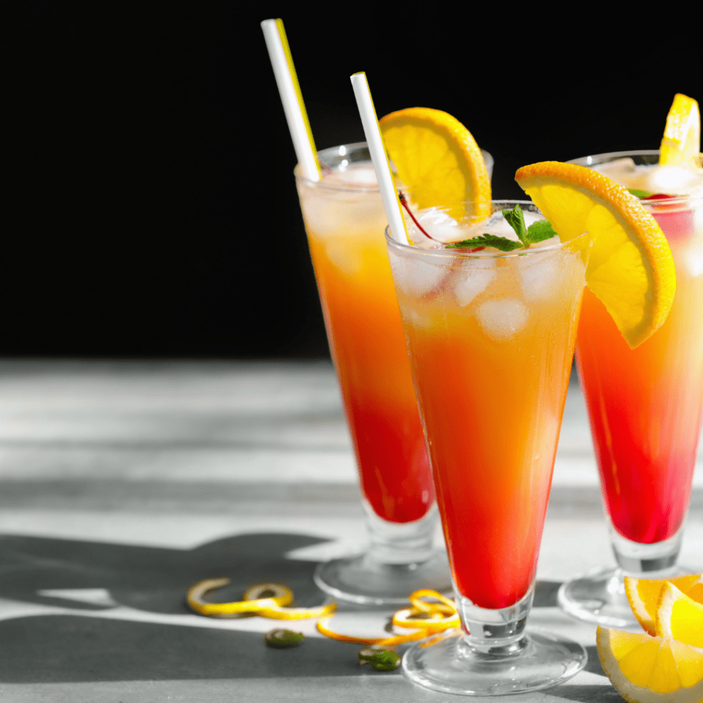 Pretty and Delicious Drink with Garnishes