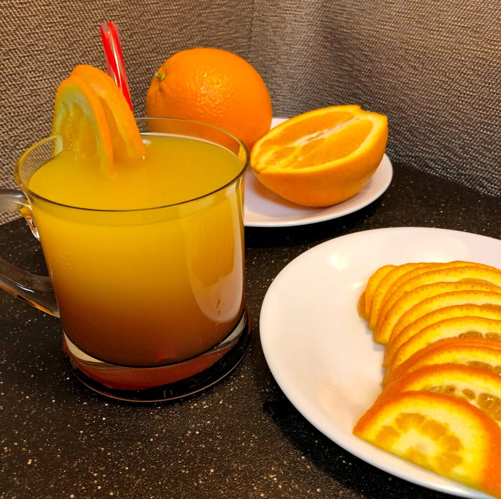 Refreshing Orange Juice Drink