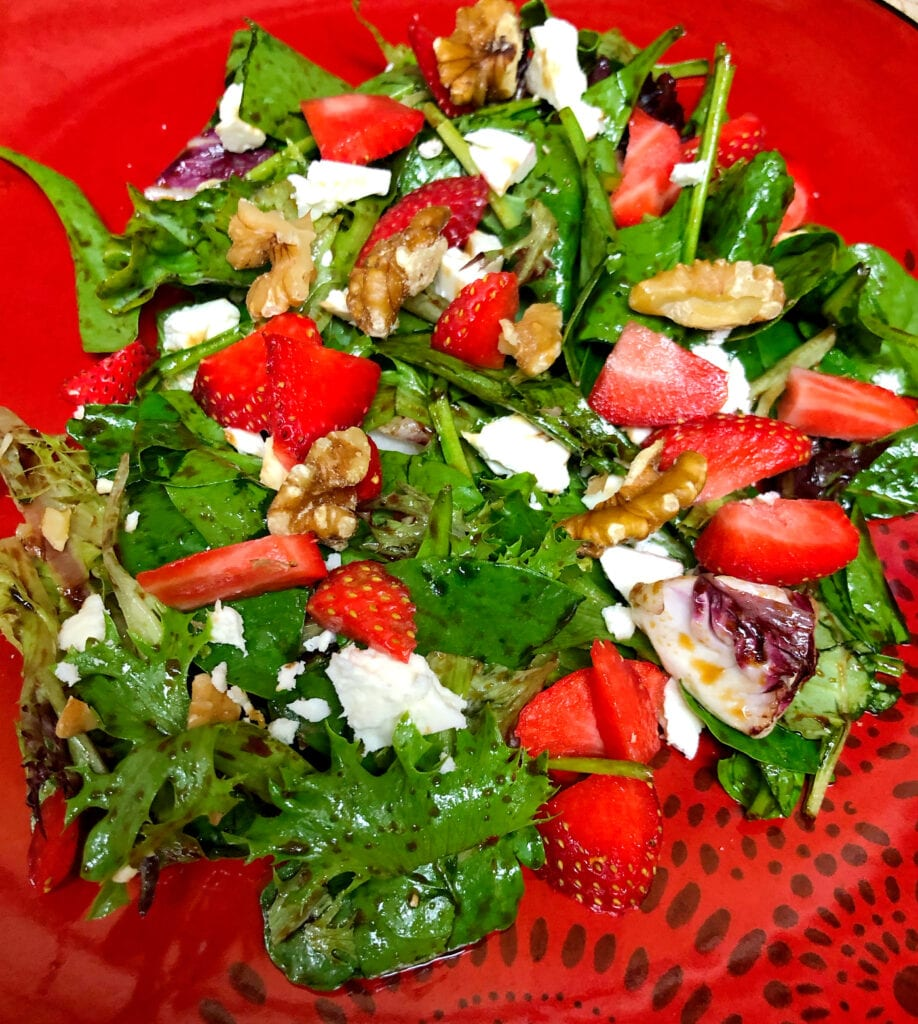 Spring Mix Salad Recipe with Strawberries