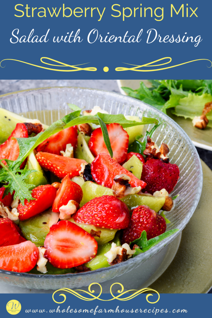 Strawberry Spring Mix Salad with Oriental Dressing