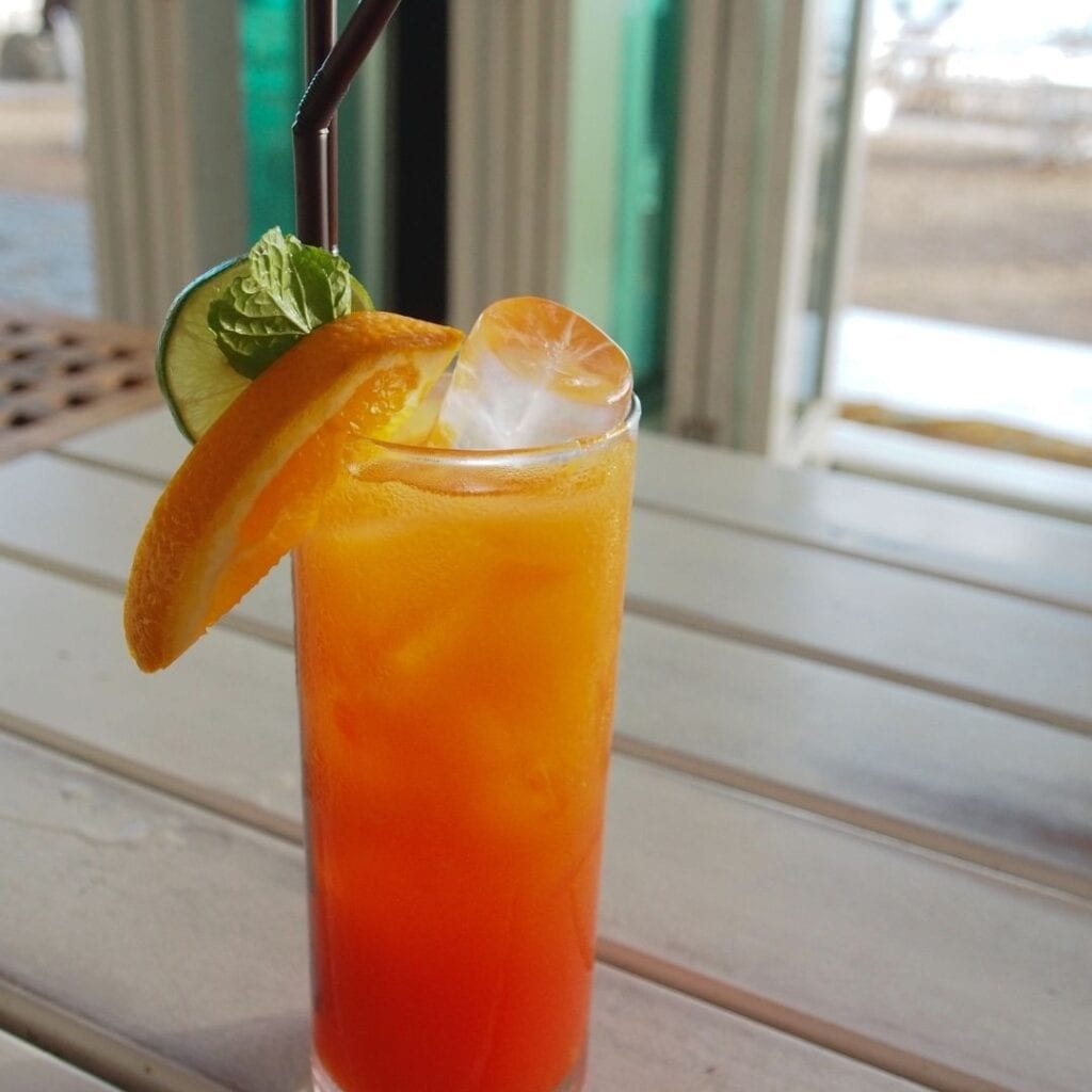 Citrus Mocktail with Ice and Garnish