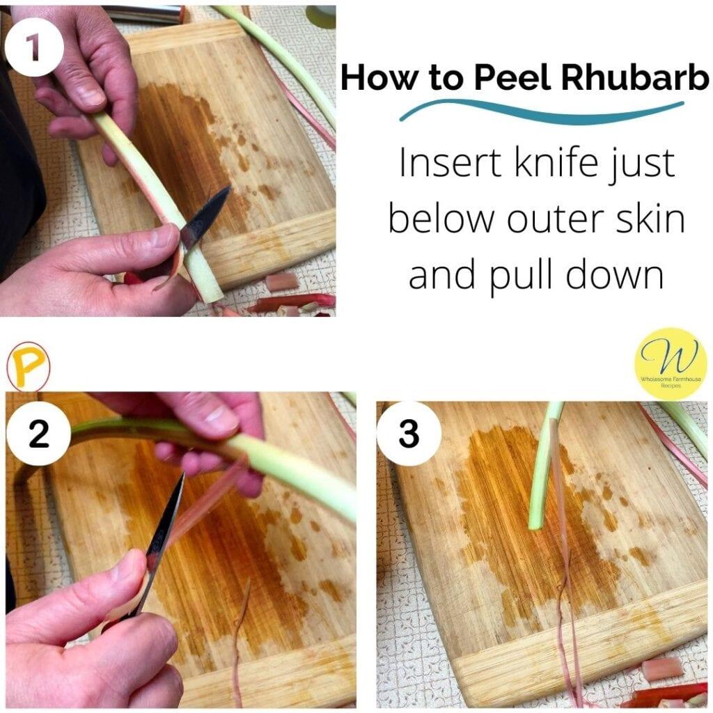How to Peel Rhubarb