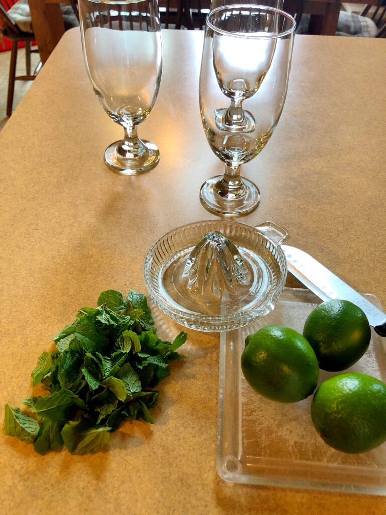 Fresh Mint and Limes