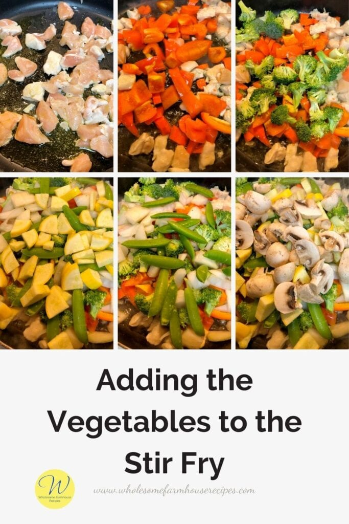 Adding the Vegetables to the Stir Fry