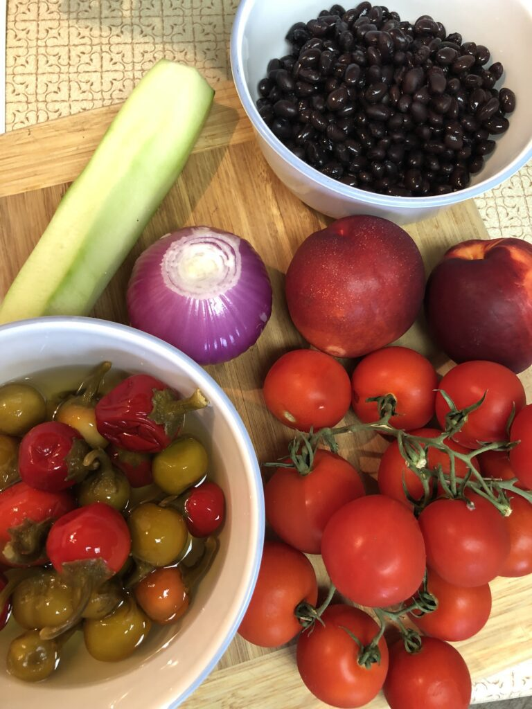 Fresh Ingredients Ready to Start Dicing
