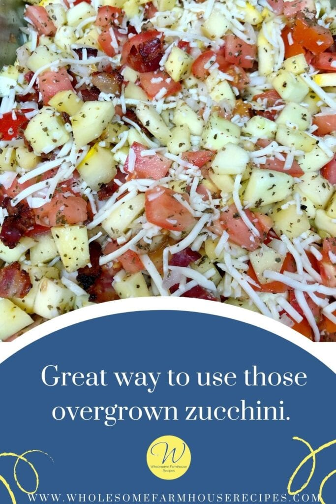 Great way to use those overgrown zucchini.