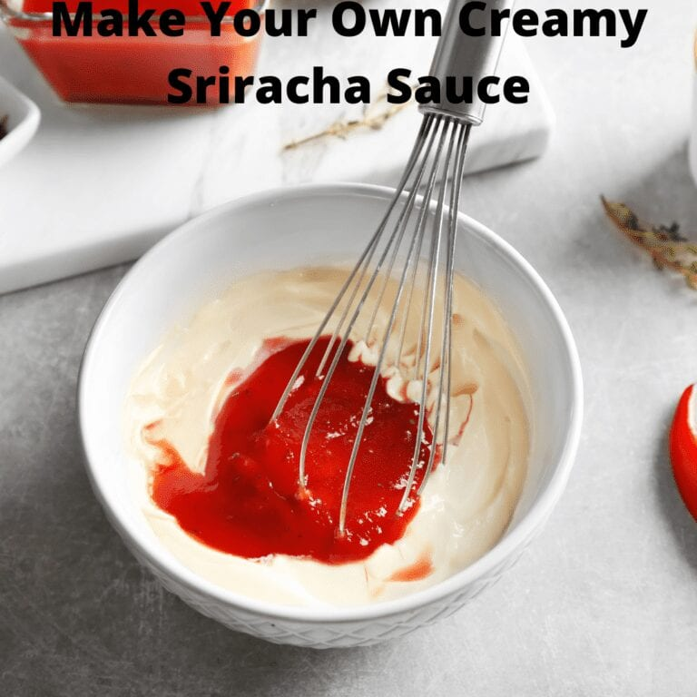 Make Your Own Creamy Sriracha Mayonnaise Sauce Ingredients in Bowl