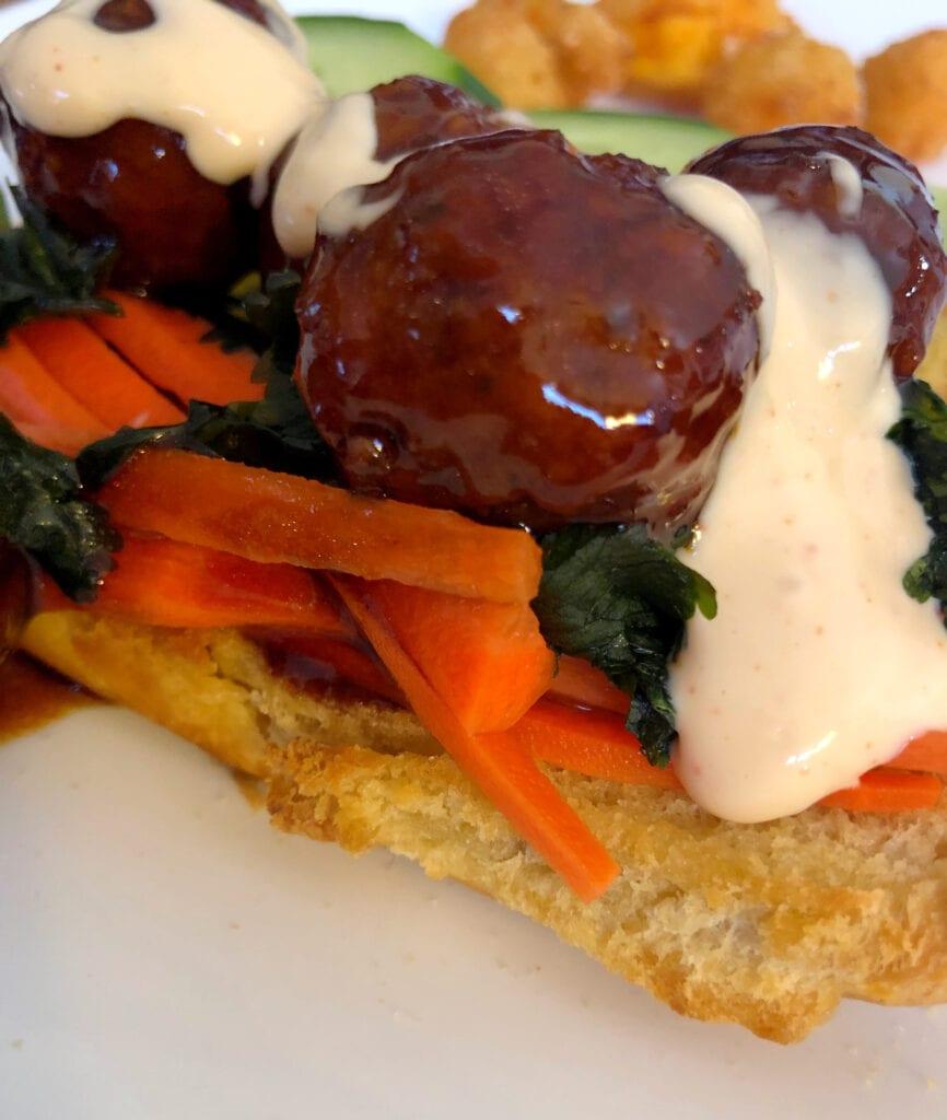Vietnamese Banh Mi Meatball Sandwich