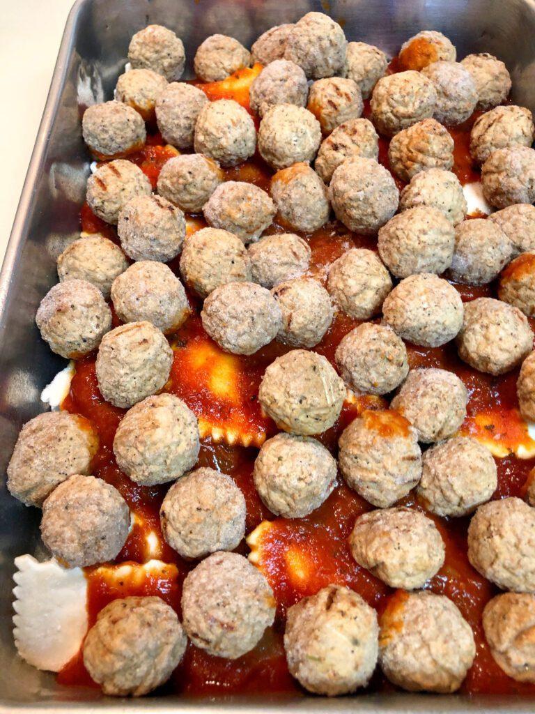 Frozen Meatball Layer