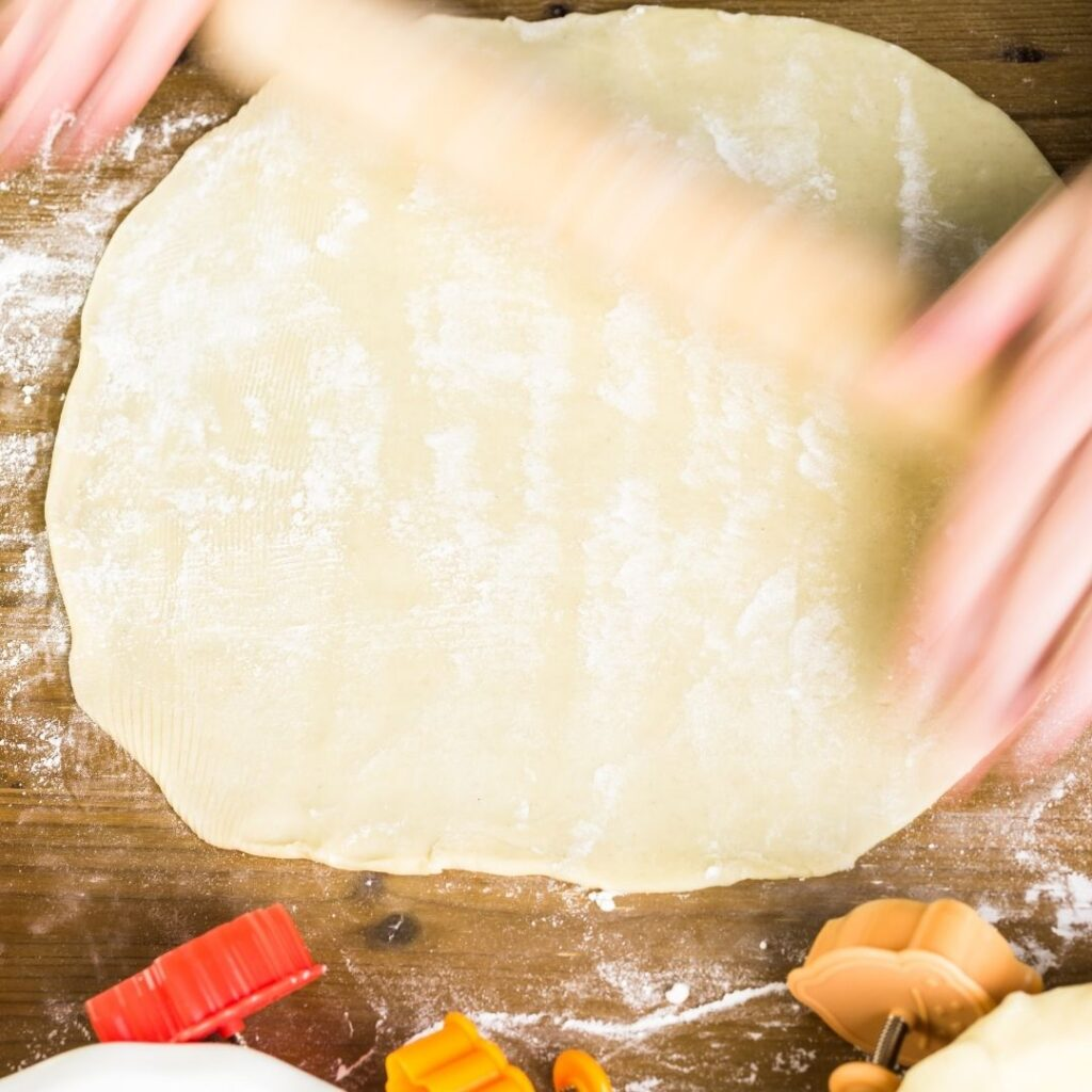Rolling out the Homemade Pie Dough