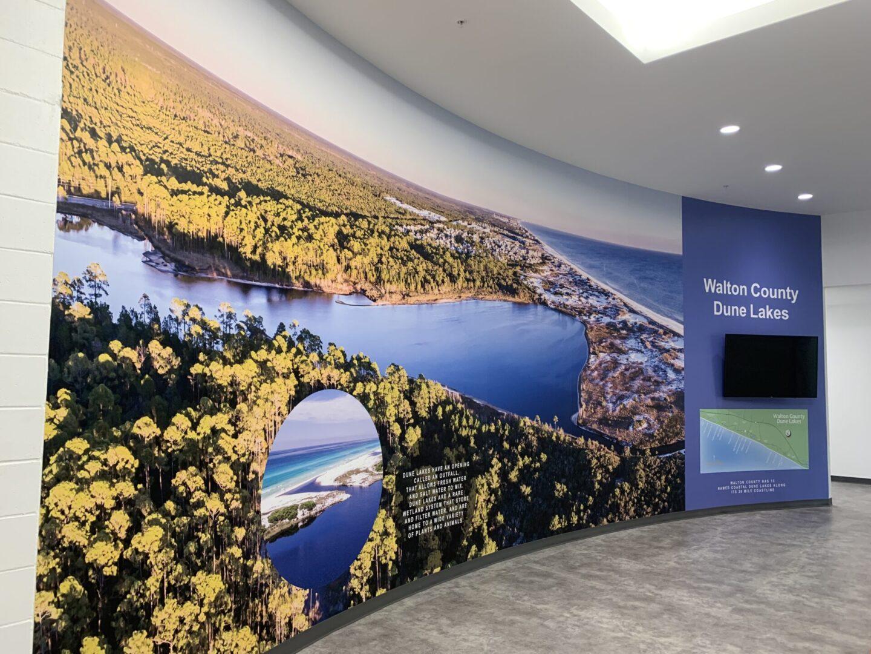 WALL GRAPHIC - DIGITAL PRINT - FULL WALL VINYL - DUNE LAKES - 2019