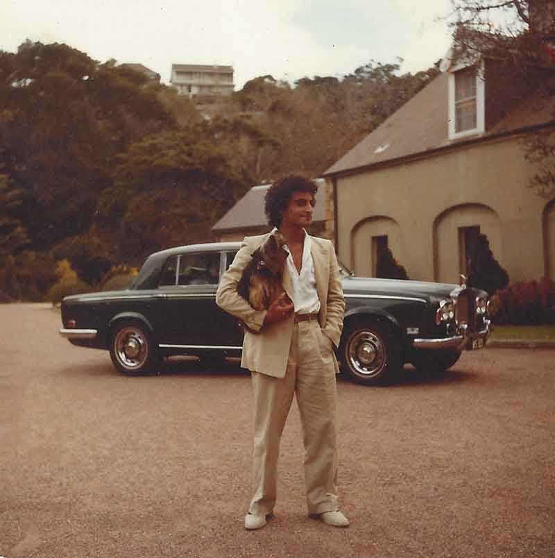 1970's dog and car