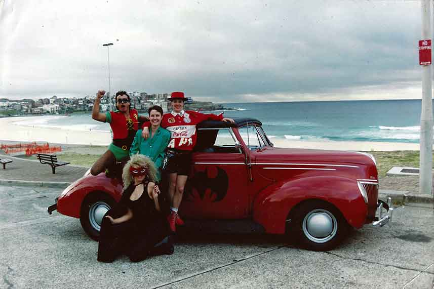 Hot Rod antics, Bondi Beach