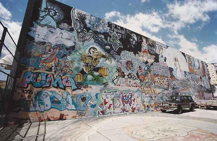 Graffiti Hall wall