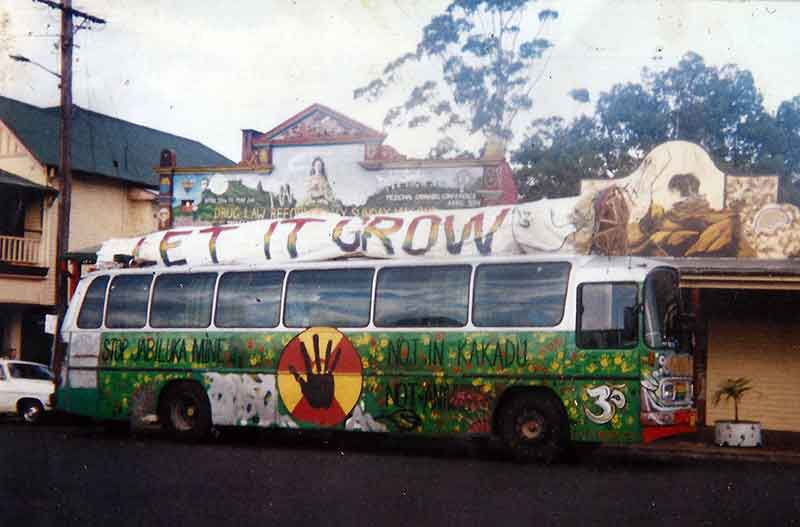 The Peace Bus Let it Grow campaign, Nimbin