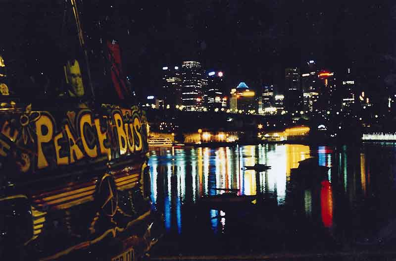 Peace Bus in Lavender Bay, Sydney