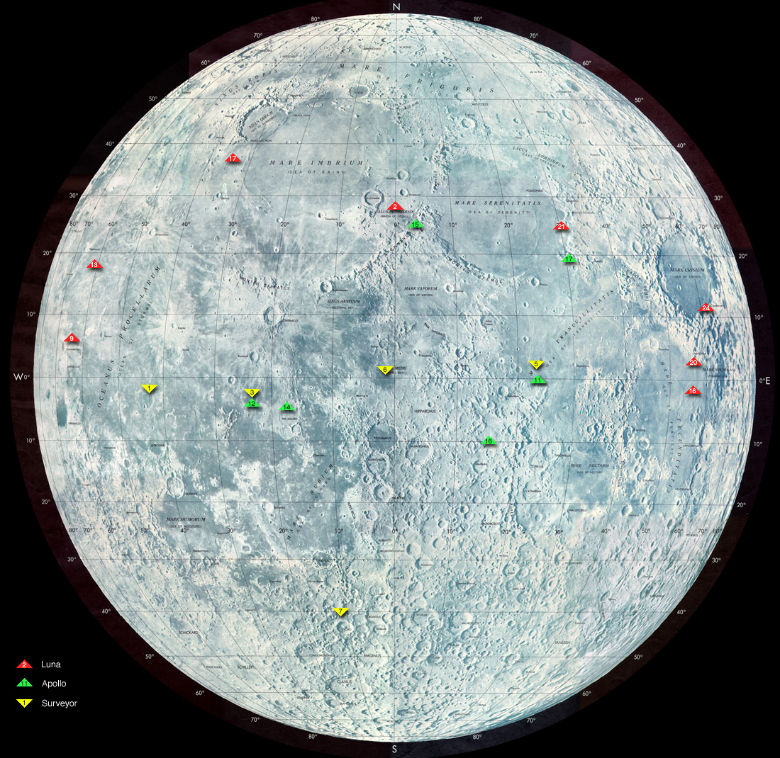 Lunar Site Map
