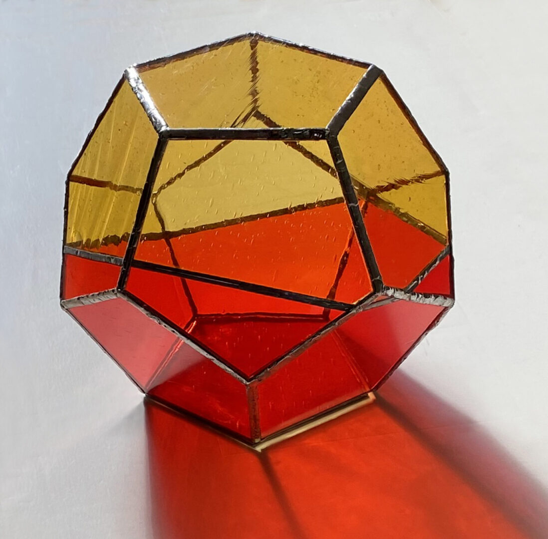 Dodecahedral Glass Sculpture