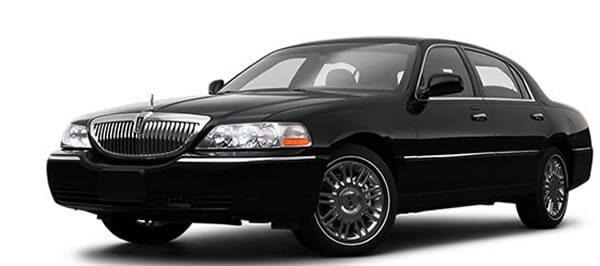 black lincoln town car