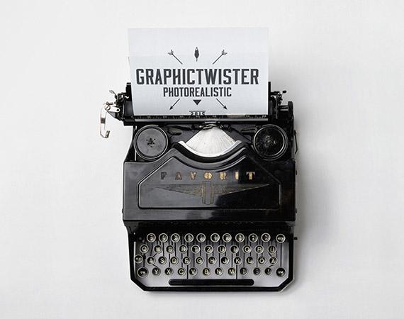 Typewriter Mockup