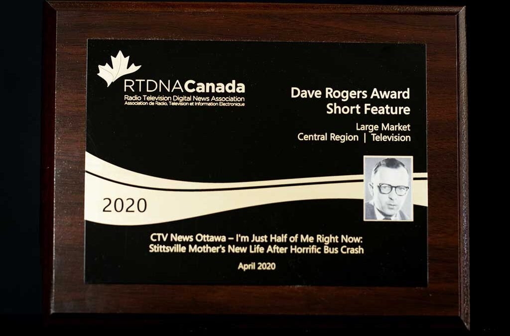 RTDNA Canada Dave Rogers 2020 Central Region Award Winner