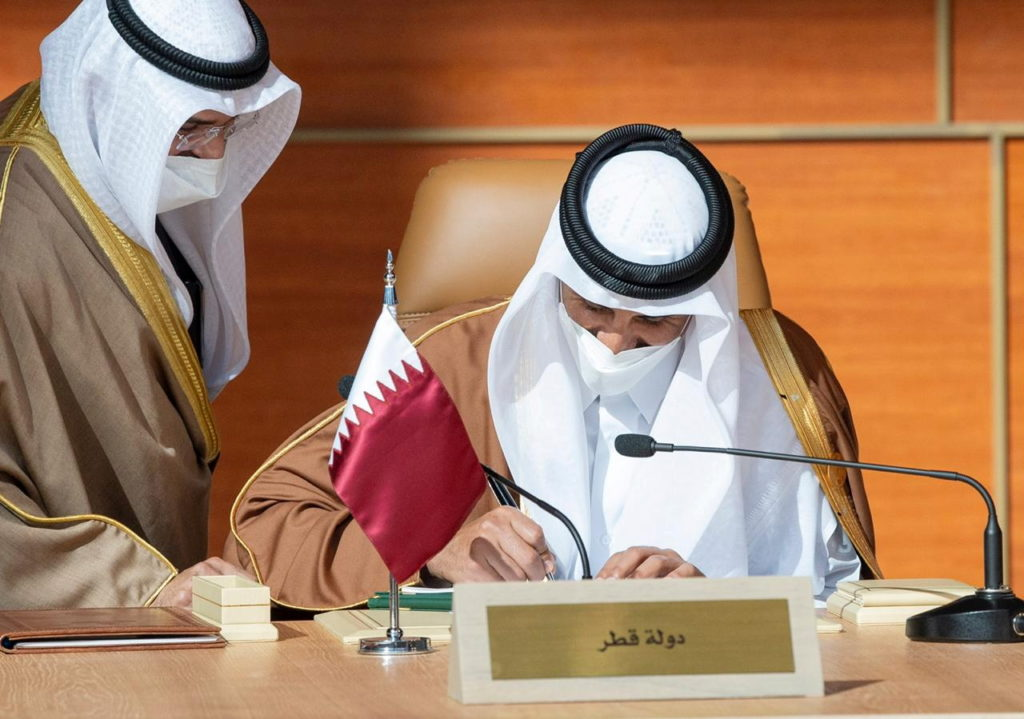 Declaration with Qatar to ease rift
