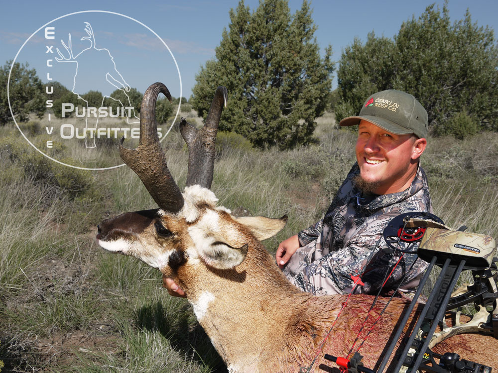 Cody with his big archery pronghorn.