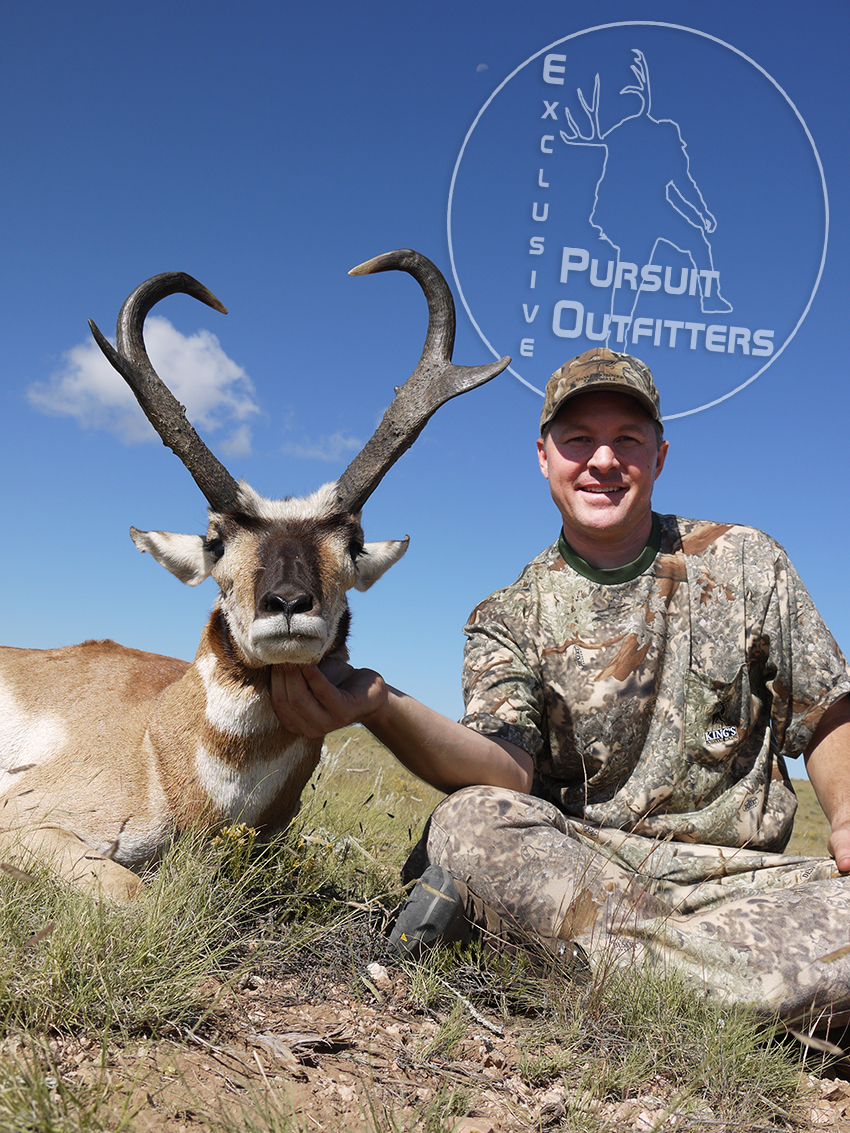 Ty was blessed to be able to take a gorgeous highly sought after pronghorn.