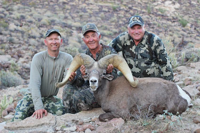 Jay Scott, Frank & Tim with Frank's 2015 AZ Big Game Super Raffle Ram.