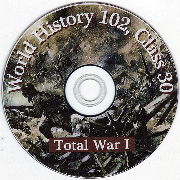 World War One Talk by Distinguished Military Historian Dr Clark G Reynolds at the College of Charleston - World History 102 Class 30 - Total War One