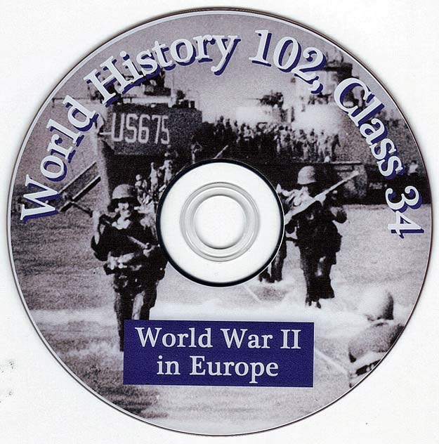 World War Two in Europe - Talk by Distinguished Military Historian Dr Clark G Reynolds at the College of Charleston SC - World History 102 Class 34 - World War Two in Europe