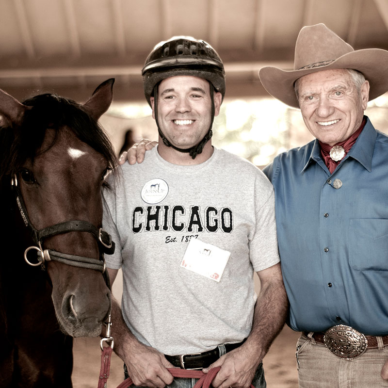 Monty Roberts Horse Sense & Healing for veterans and first responders, Flag Is Up Farms, California