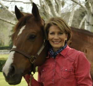 Debbie Loucks with the family's horse, Bunny, which is short for Steel Buns - photo by James Oliver