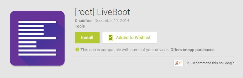 Live boot