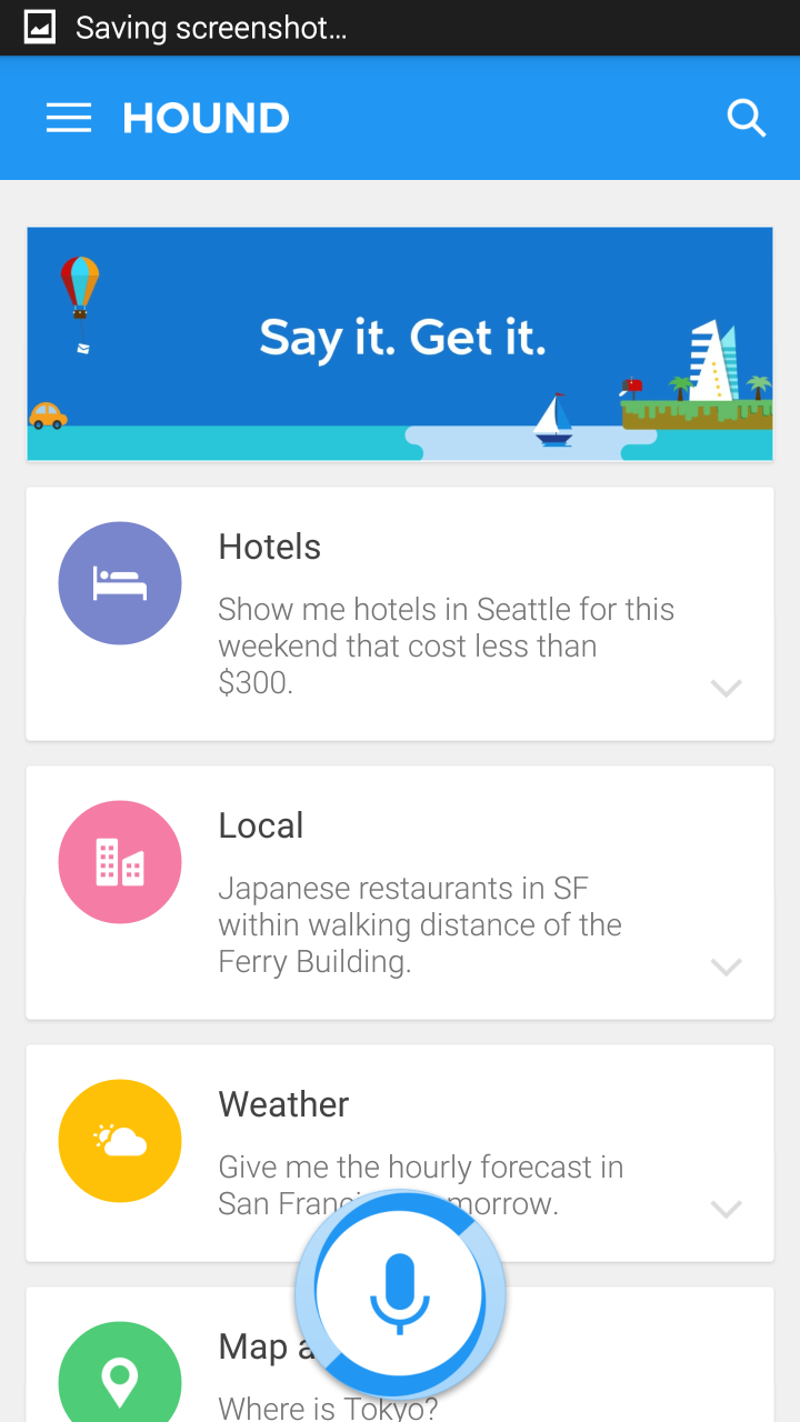 Google Now competition Cortana and Hound beta