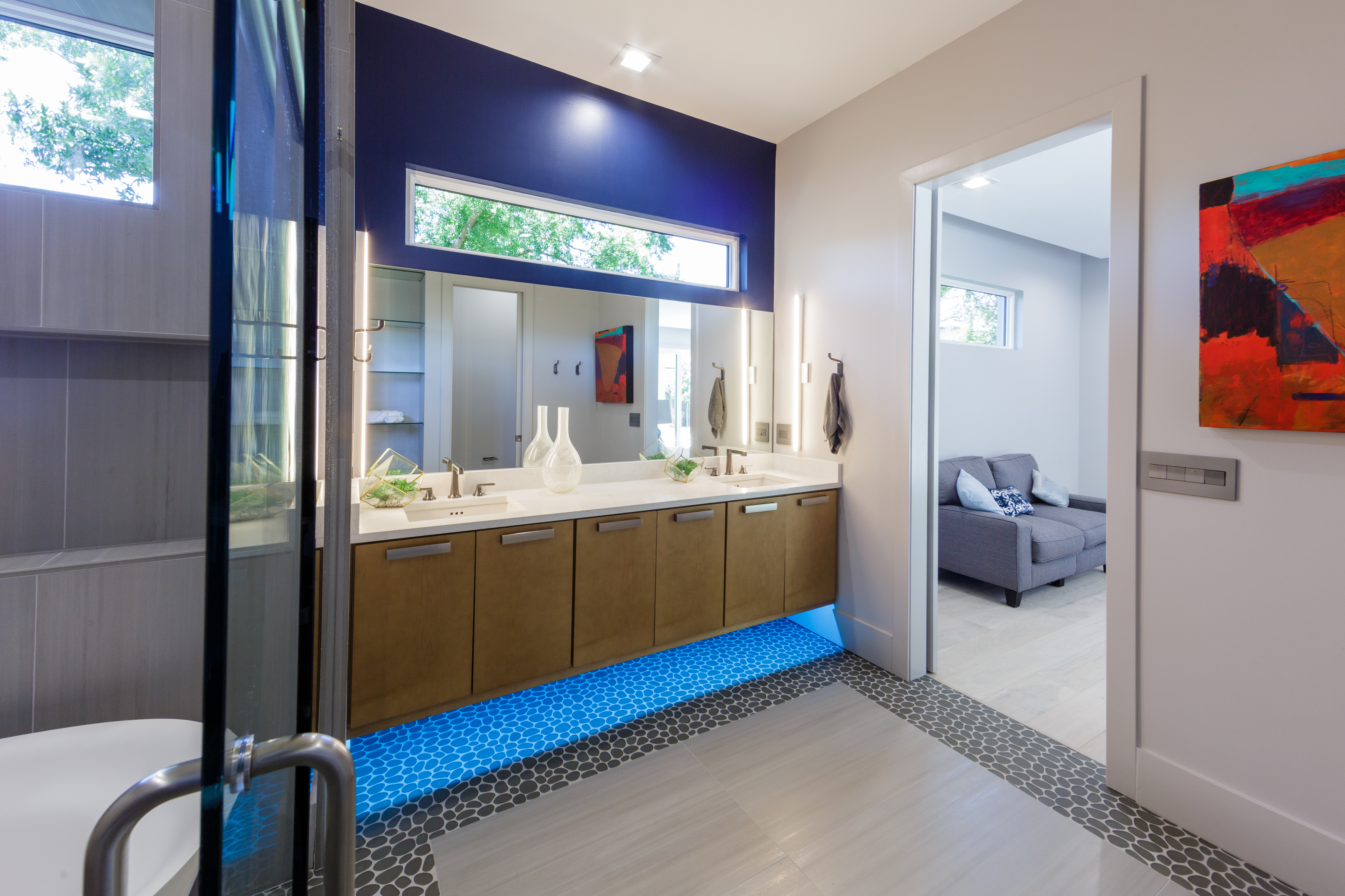 Grinnell Modern: Master Bath Vanity