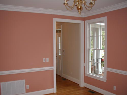 Inteior Painting, Chair Rails and Trim