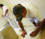 workers prepping for home improvement job