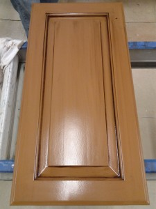 Cabinet Doors - Chocolate Glaze over Toffee Paint