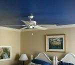 blue ceiling in bedroom