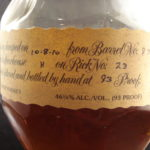 blantons label closeup right