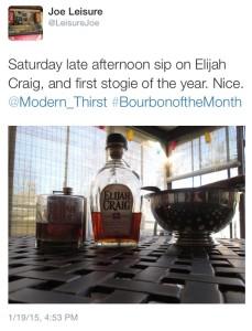 Jan 15 BotM Elijah Craig Tweet