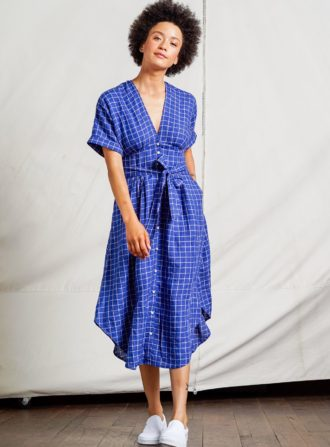 trovata meadow navy dress