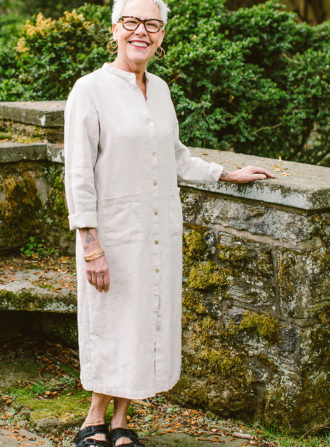 fog linen dress with pockets