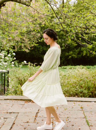 loup charmant lime dress