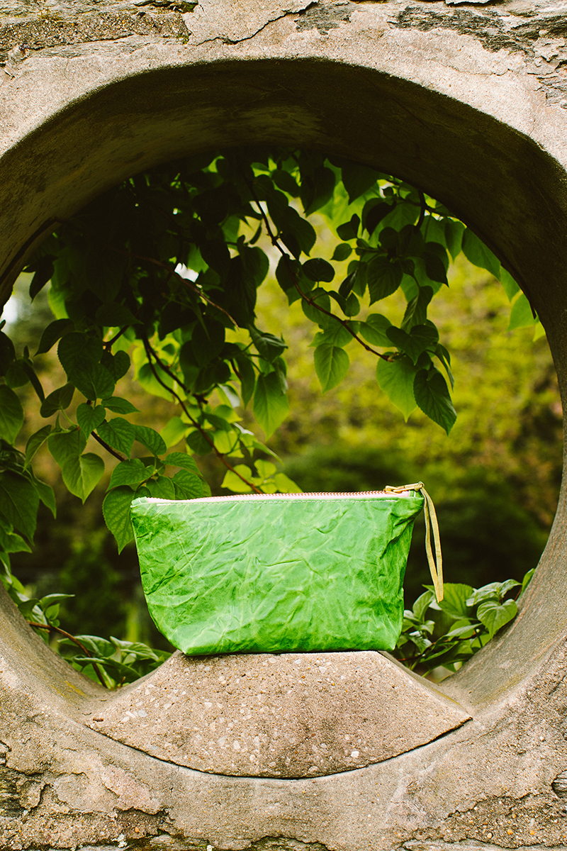 totem green leather bag