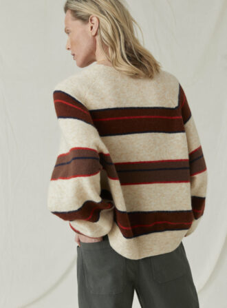 closed block stripe sweater
