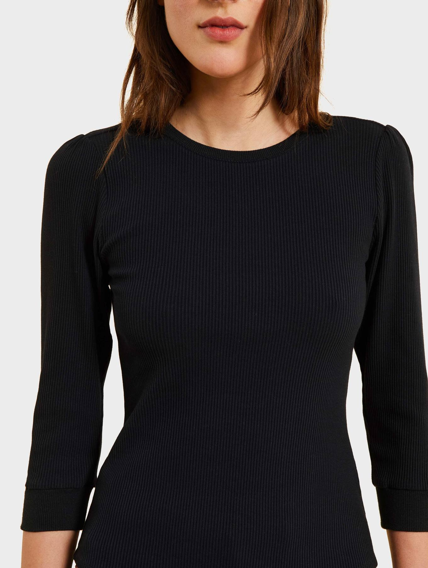 kinly black ribbed shirt
